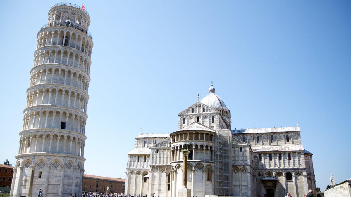 der schiefe Turm von Pisa auf konsumguerilla.net
